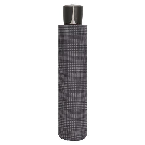 Černý mechanický kvalitní deštník Charles Doppler