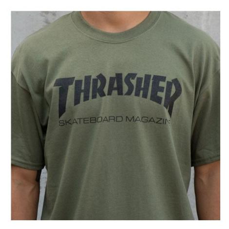 TRIKO THRASHER SKATEMAG SS - zelená