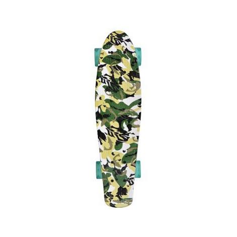 Schildkröt Retro Skateboard Free Spirit Camouflage