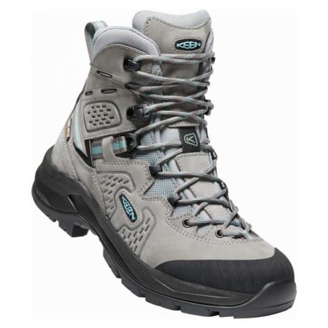 KEEN KARRAIG MID WP W Dámská vysoká treková obuv 10008796KEN01 steel grey/smoke blue