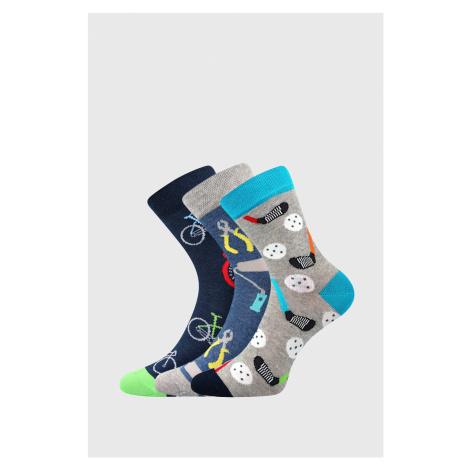 3 PACK chlapeckých ponožek Freetime Boma