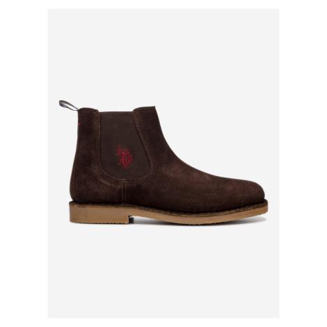 Faust7 Kotníková obuv U.S. Polo Assn Hnědá