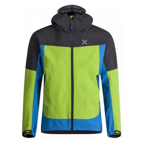 Montura pánská bunda IRON 20 Jacket, Zelená/modrá/černá