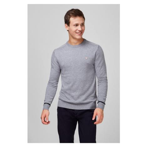 Guess GUESS pánský šedivý svetr