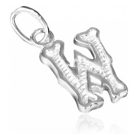 Stříbrný přívěsek 925 - písmeno W s vroubkováním Šperky eshop