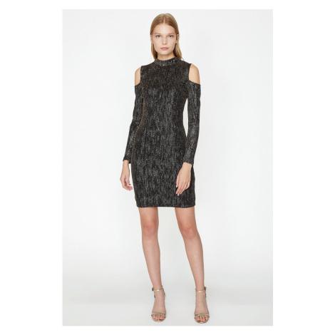 Koton Shoulder Detail Dress Evening Dress