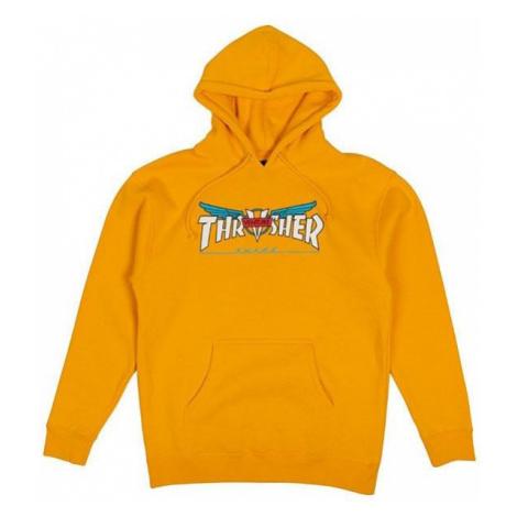 MIKINA THRASHER VENTURE HOOD - oranžová