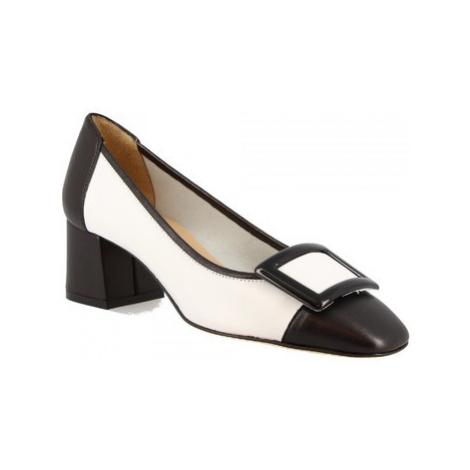 Leonardo Shoes 1331 NAPPA NERA/BIANCA Bílá