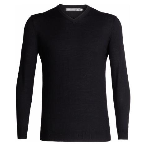 Pánský svetr ICEBREAKER Mens Shearer V Sweater, Black Icebreaker Merino