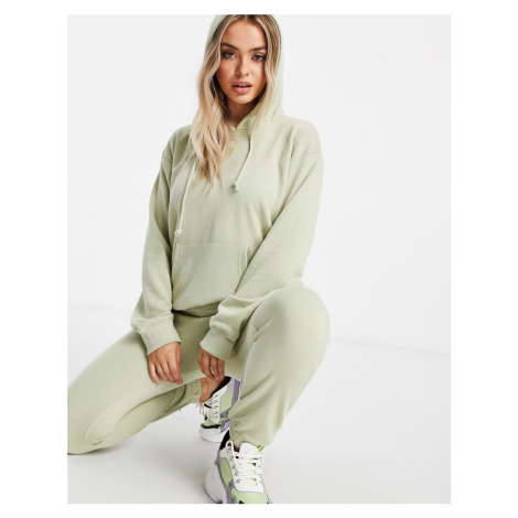 Missguided co-ord hoody and jogger set in sage green