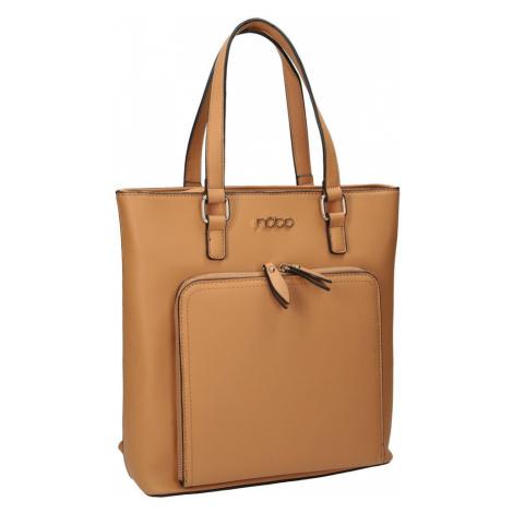 Módní klasická dámská kabelka, batoh 2v1 Nobo