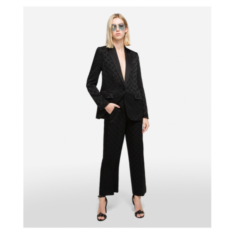 Kalhoty Karl Lagerfeld Karl Dots Tailored Pants - Černá