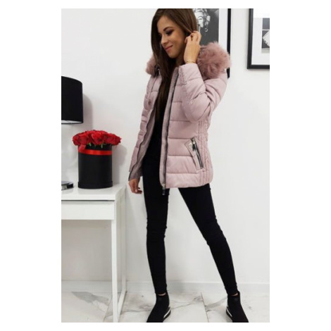 VIP pink women's quilted jacket TY1008 DStreet