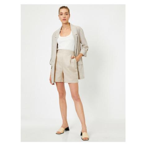 Koton Women's Gray Pocket Linen Sort