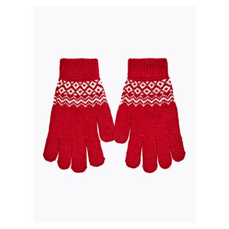 GATE Pletené rukavice se vzorem
