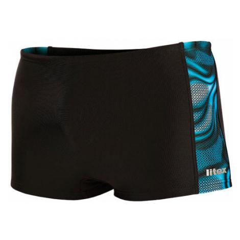 Pánské plavky boxerky Litex - černá-tisk