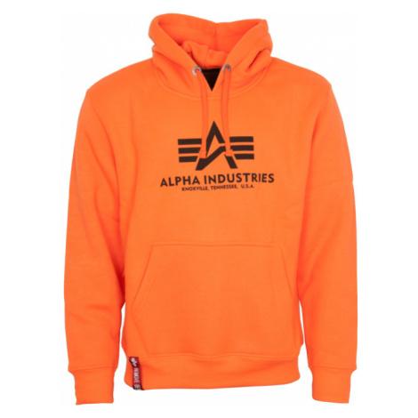 Alpha Industries Mikina Basic Hoody neon orange