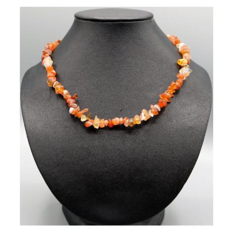 Buddhanaramek Karneol náhrdelník sekaný 6398