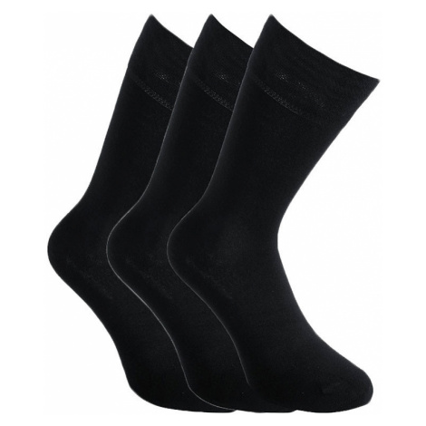 3PACK ponožky Styx vysoké bambusové černé (3HB960)