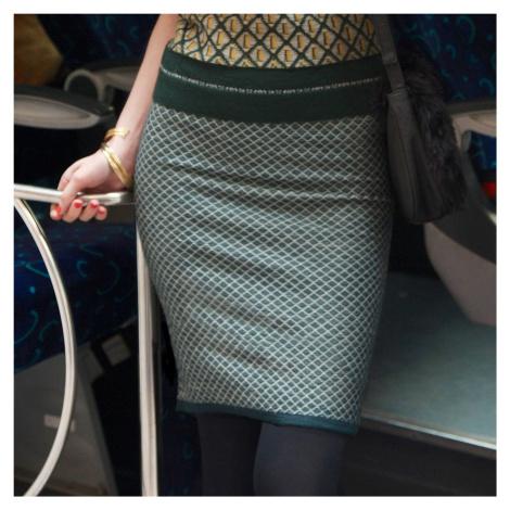 Dámská žakárová sukně vícebarevné provedení