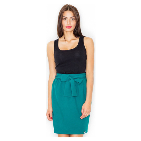 FIGL Zelená sukně s mašlí M524