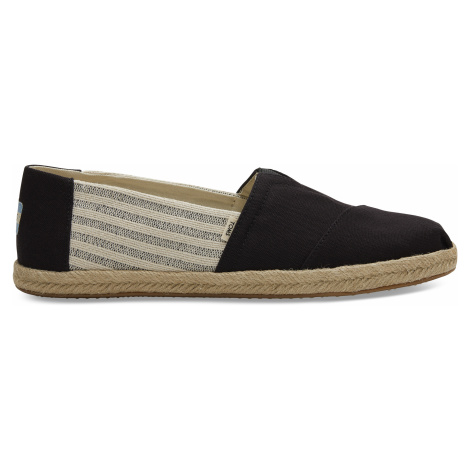 Black Ivy League Stripes Men Alpargata Toms