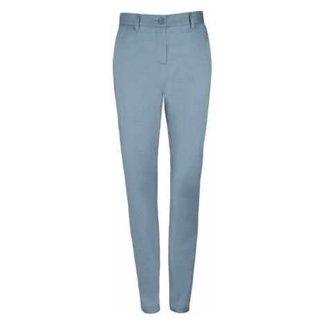 SOĽS Dámské saténové kalhoty JARED WOMEN 02918250 Creamy dark blue SOL'S