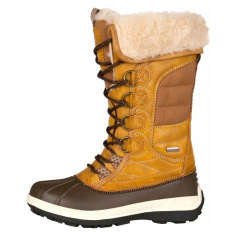 ALPINE PRO NULATA Dámská zimní obuv LBTP217115 mustard