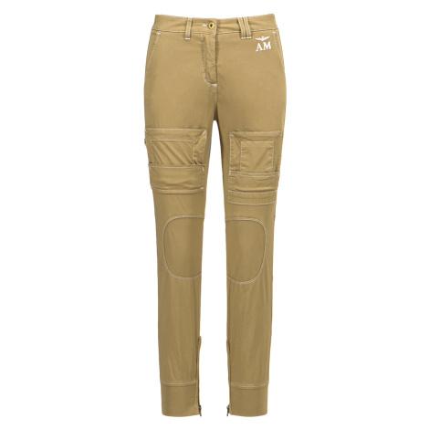 Kapsáčové kalhoty AERONAUTICA MILITARE zelená