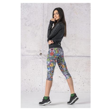 Nessi Sportswear 3/4 Legíny s multifunkčním pasem OSTP-13M4 Mosaic Nature