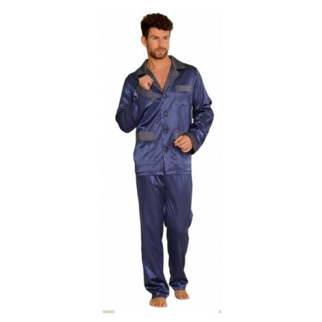 Pánské pyžamo SATYNA 939 BIG tmavě modrá De Lafense