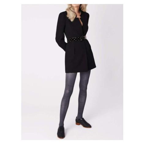 Punčochové kalhoty OSTIA - 40 DEN 3D černo-bílá Fiore