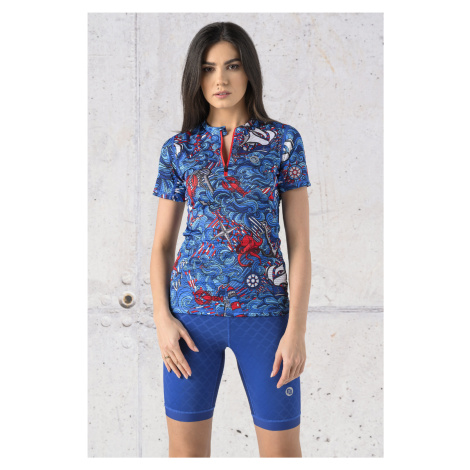 Nessi Sportswear Běžecké Tričko se zipem Karbon KBC-13F1 Blue Ocean
