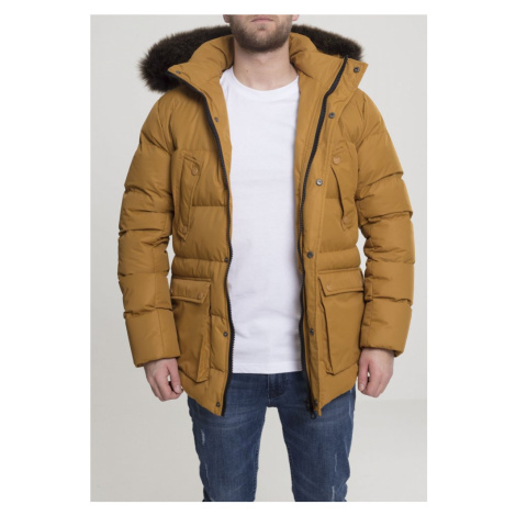 Faux Fur Hooded Jacket - goldenoak Urban Classics