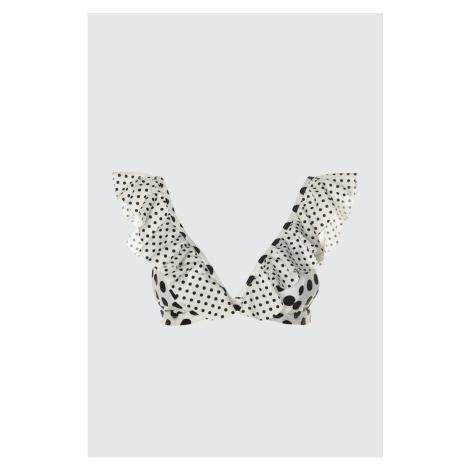 Trendyol Pointy Ruffle Bikini Top