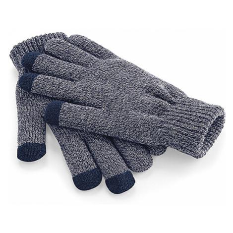 Zimní rukavice s dotykem na mobil - šedé Beechfield
