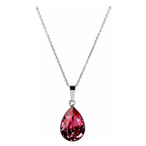 Troli Oslnivý náhrdelník Pear Rose