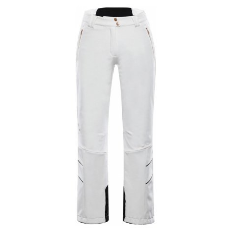 ALPINE PRO KARIA 4 Dámské lyžařské kalhoty LPAS451000 bílá