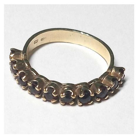 AutorskeSperky.com - 14 kt zlatý prsten s českými granáty - S4318