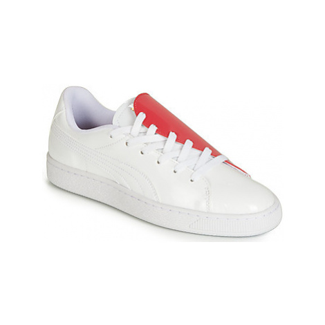 Puma WN BASKET CRUSH.WH-HIBISCU Bílá