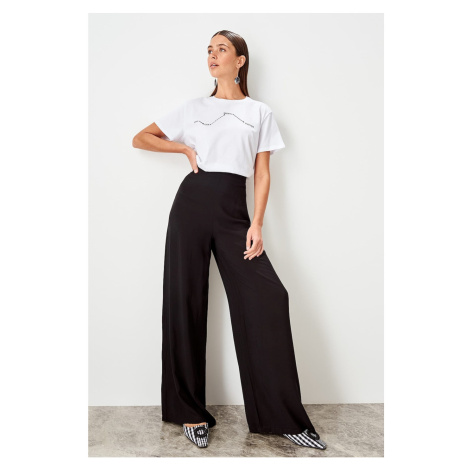 Trendyol Black Full leg trousers