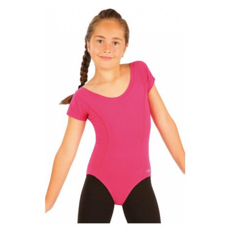Dívčí gymnastický dres Litex 99440 | kiwi zelená