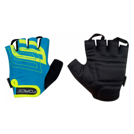 Cyklistické rukavice FORCE SPORT modrá/fluo