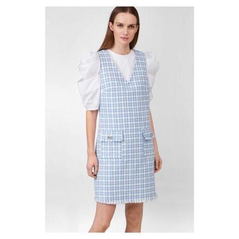 Kárované šaty s áčkovou sukní Orsay
