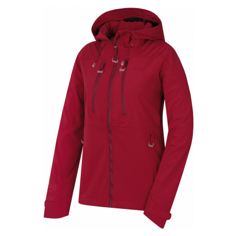 Husky Sevan L, purpurová Dámská softshell bunda