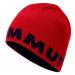 Čepice Mammut Logo Beanie - červená / šedá