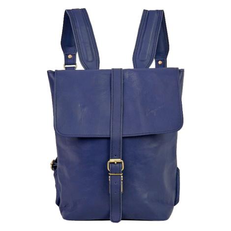 Bagind Hezkey Atmos - Dámský i pánský kožený batoh modrý, ruční výroba, český design