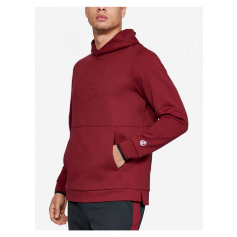 Mikina Under Armour Athlete Recovery Fleece Graphic Hoodie-R Červená