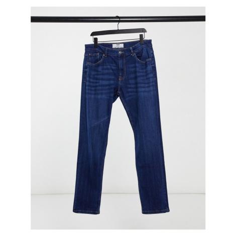 Bershka slim fit jeans in mid blue