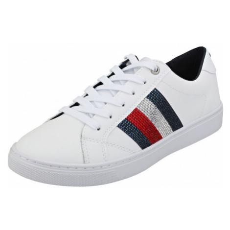 Tommy Hilfiger Tommy Hilfiger dámské bílé tenisky Crystal Leather Casual Sneaker